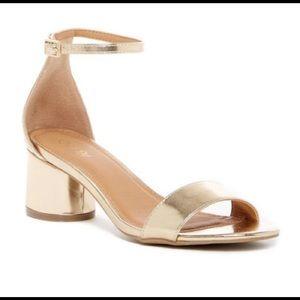 Abound Gold Block Heel Sandals Size 7